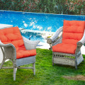 """22"""" x 44"""" Tufted Outdoor Patio Chair Seating Pad"""