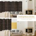 6.5Ft 6-Panel Weave Folding Fiber Room Divider Screen