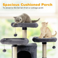 """67"""" Multi-Level Cat Tree with Cozy Perches Kittens Play House"""