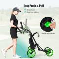 Lightweight Foldable Collapsible 4 Wheels Golf Push Cart