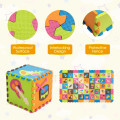 125 Pieces Baby Foam Interlocking Play Mat with Fence Instruments Styles