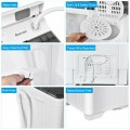 26 Pound Portable Semi-automatic Washing Machine with Built-in Drain Pump