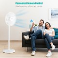 """16"""" Oscillating Pedestal 3-Speed Adjustable Height Fan with Remote Control"""