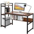 """59"""" Computer Desk Home Office Workstation 4-Tier Storage Shelves"""
