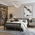 Twin/Full/Queen Size Wood Platform Bed with Headboard