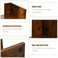 8-Shelf Industrial Tree-Shaped Bookshelf with Anti-Toppling Fitting