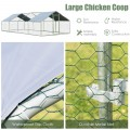 Large Walk In Chicken Coop with Roof Cover Backyard