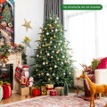 7 Feet Artificial Christmas Tree with 1260 Mixed PE and PVC Tips