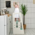 Kids Kitchen Step Stool with Double Safety Rails