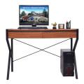Wooden Top Computer Desk Sturdy Workstation
