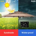 10ft 3 Tier Outdoor Patio Umbrella with Double Vented