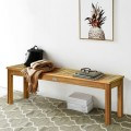 """52"""" Outdoor Acacia Wood Dining Bench Chair"""