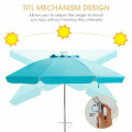 6.5 Feet Beach Umbrella with Sun Shade and Carry Bag without Weight Base
