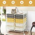 12 Drawers Rolling Cart Storage Scrapbook Paper Organizer Bins
