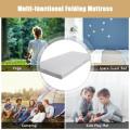"4"" Folding Sofa Bed Foam Mattress with Handles"