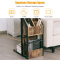 Modern C-Shape Sofa Side Snack End Table Nightstand