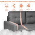 "55""Modern Loveseat Sofa with Cloth Cushion"