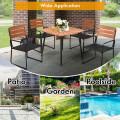 5PCS Outdoor Patio Dining Table Set Aluminium Frame