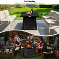 """30"""" Square Propane Gas Fire Table with Waterproof Cover"""