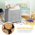 Wooden Kids Toy Storage Organizer  with Lid