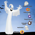 12 Feet Halloween Inflatable Spooky Ghost with Blower and LED Lights
