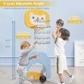 3-in-1 Adjustable Kids Basketball Hoop Sports Set