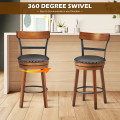 """Set of 2 25.5"""" Swivel Counter Height Dining Chair"""