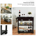 Rolling Kitchen Island Trolley Cart with White Drawer