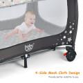 One-piece Free Installation Portable Baby Playpen Activity Center
