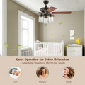 """52"""" Ceiling Fan Light with Pull Chain and 5 Bronze Finished Reversible Blades"""