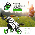 3 Wheels Folding Golf Push Cart with Seat Scoreboard and Adjustable Handle