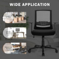Adjustable Mid Back Mesh Office Chair with Lumbar Support