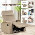 Recliner Chair Single Sofa Lounger with Arm Storage and Cup Holder for Living Room