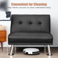 Single Sofa Lounge Chair with Metal Legs and Adjustable Backrest