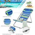 Portable Beach Chair Set of 2 with Headrest