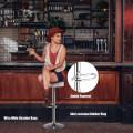 Set of 2 Adjustable Swivel Round Bar Stool  Pub Chair
