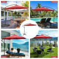 10FT Offset Umbrella with 8 Ribs Cantilever and Cross Base Tilt Adjustment