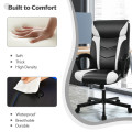 Swivel PU Leather Office Gaming Chair with Padded Armrest