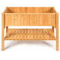 Wooden Elevated Planter Box Shelf Suitable for Garden Use