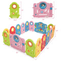 16 Panel Activity Center Baby Playpen with Gate