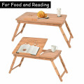 Large Size Portable Bamboo Laptop Desk with Adjustable Height