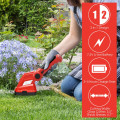 7.2V Cordless Grass Shear with Extension Handle and Rechargeable Battery