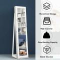 Mirrored Lockable Standing Jewelry Storage Organizer