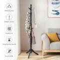 Adjustable Free Standing Wooden Coat Rack