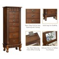 Wooden Jewelry Armoire Cabinet Storage Chest with 7 Drawers