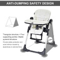 Foldable High chair with Multiple Adjustable Backrest
