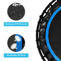 40 Inch Foldable Fitness Rebounder with Resistance Bands Adjustable Home