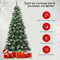 7 ft Snow Flocked Artificial Christmas Hinged Tree