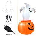 6 Feet Halloween Blow-Up Inflatable Ghost in Pumpkin with LED Light