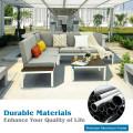 4PCS Patio Aluminum Conversation Furniture Set